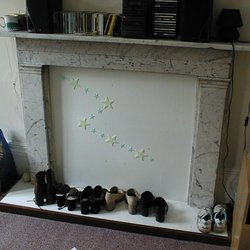 Cement fireplace panel