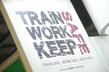 Train safe, work safe, keep safe stock