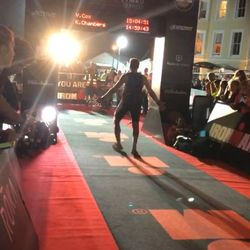 Gareth Davies - Triathlon Finish