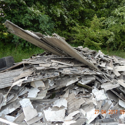 Asbestos Fly Tipped Cement