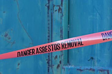 Danger Asbestos Sticker